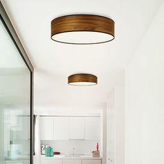 Tsuri Leuchte – Kirsche – alt_image_two hallway lighting Corridor Lighting, Living Room Lighting, Bedroom Lighting, Home Lighting, Lighting Design, Unique Lamps, Unique Lighting, Lighting Ideas, Wood Lamps