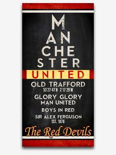 Super Gifts For Him Football Eye Chart Ideas Manchester United Gifts, Manchester United Wallpaper, Manchester United Football, Manchester City, Manchester England, Football Man Cave, Man Cave Wall Decor, Best Gifts For Him, Eye Chart