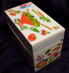 retro recipe metal box