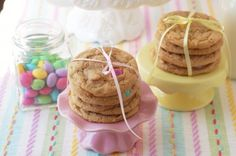 Dulce de Leche and White Chocolate M&M Cookies by The Sweet Chick