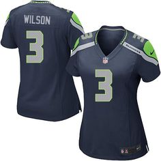 New Women's Blue Nike Game Seattle Seahawks #3 Russell Wilson Team Color NFL Jersey   All Size Free Shipping. Size S, M,L, 2X, 3X, 4X, 5X. Our massive selection of Women's Blue Nike Game Seattle Seahawks #3 Russell Wilson Team Color NFL Jersey coupled with our competitive prices, fast shipping and friendly service for nike jerseys is why we are the largest fan shop online.  $69.99