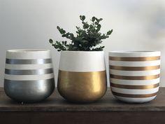 Diy Home Crafts, Diy Arts And Crafts, Pots D'argile, Indoor Flower Pots, Pottery Painting Designs, Cement Pots, House Plants Decor, Concrete Art, Painted Pots