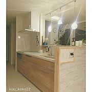 kuu_koko22の人気のインテリア実例 Japanese House, Corner Bathtub, Double Vanity, My House, Mirror, Bathroom, Kitchen, Furniture, Home Decor