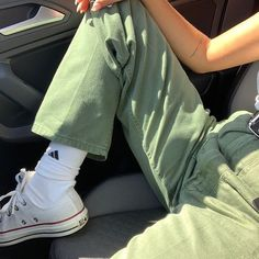 Green jean March 09 2020 at fashion-inspo Looks Style, Looks Cool, Style Me, Sup Girl, Mint Green Aesthetic, Aesthetic Dark, Summer Aesthetic, Mode Ootd, Magazine Mode
