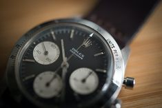 Historical Perspectives: The Very First Rolex Daytona, Explained (Or, What Is A Double-Swiss Underline Daytona?) - HODINKEE Rolex Cosmograph Daytona, Rolex Daytona, Daytona Watch, Hand Jewelry, Omega Watch, The Unit, Wristwatches, News, Vintage