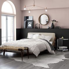Why do you need to choose black furniture for your bedroom? The first is the black furniture is perfect for you when you want to create a modern and elegant bedroom. Black Bedroom Decor, Black Bedroom Furniture, Home Decor Bedroom, Bedroom Wall, Bedroom Ideas, Bedroom Themes, Bedroom Inspiration, Master Bedroom, Bedroom Carpet