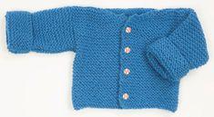 Garter Stitch Free Baby Cardigan Knitting Pattern