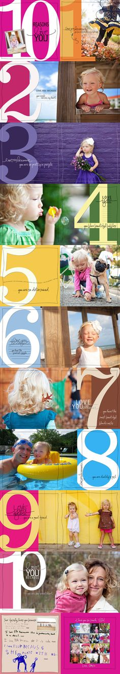 A great photo project: 10 reasons I love you [would also be fun to do an abc photo book]