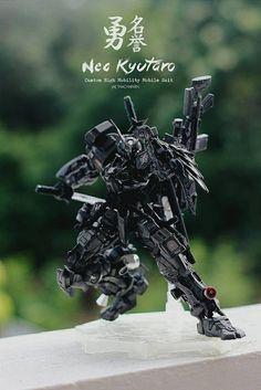 This is MG Neo Kyutaro Gundam  Custom High Mobility Mobile Suit modeled by Jaechou. Originally taken from MG 1/100 Sengoku Astray Gundam...