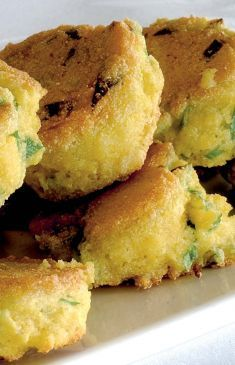 Frittelle di cipollotti e farina di mais - Tutte le ricette dalla A alla Z - Cucina Naturale - Ricette, Menu, Diete