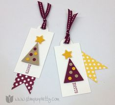 Stampin up mary fish stamp it pretty order holiday christmas tags petite pennants builder punch parade
