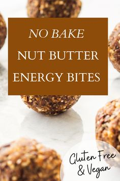 I love no bake treats. These easy vegan nut butter energy bites sure do hit the spot for an energy boosting 3pm snack. Bonus: kids love and can help make. These gluten free nut butter energy bites will be a family favorite and they are great to have on hand all year long! Head over to my blog to get the recipe or save this pin for later! I gluten free energy bites I nut butter energy bites I no bake energy bites I gluten free snacks I vegan snacks I Gluten Free Snacks, Vegan Snacks, Whole Food Recipes, Dessert Recipes, Healthy Recipes, No Bake Energy Bites, Holistic Nutrition, No Bake Treats, Nut Butter
