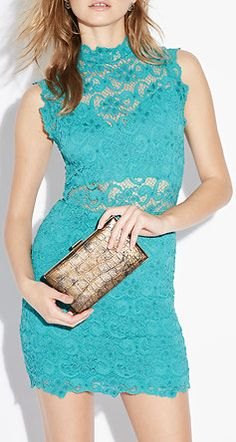 Nightcap Dixie Lace Cutout Dress