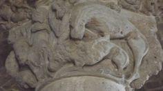 ABBAZIA DI SANT'ANTIMO - CASTELNUOVO DELL'ABATE (SIENA) - maestro di / master of / maitre de Cabestany - Daniele nella fossa dei leoni - Daniel in the dune of lions - Daniel dans la fosse aux lions