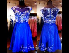 100HS0278880285 ROYAL HOMECOMING DRESS   Stunning high neckline and cap sleeves are intricately adorned with shimmering bead work cascading into  a short chiffon skirt. Come and Try it at Rsvp Prom and Pageant in Lawrenceville, Georgia or order it at http://rsvppromandpageant.net/collections/short-dresses/products/100hs0278880285-royal-homecoming-dress
