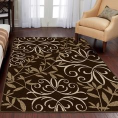 Better Homes And Gardens Iron Fleur Area Rug Beige Home