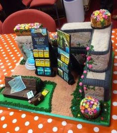 A cake made for pioneer school. Would you like a piece? Or is it too cute to eat?  http://MinistryIdeaz.com
