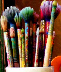 """When words fail, color sings."" Click for link: ""Paintbrushes for Pens"" #healing…"