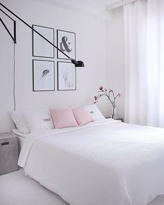 Makuuhuoneen täydellinen vaalea tyyli | Instakodit