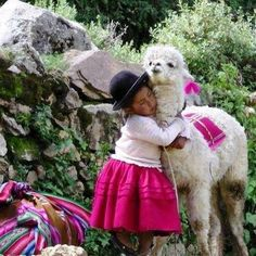 How cute is she with her even cuter lama pet Animals For Kids, Animals And Pets, Baby Animals, Cute Animals, Alpacas, Precious Children, Beautiful Children, Lama Animal, Llama Face