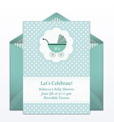 9 Free Online Baby Shower Invitations Your Guests Will Love: Baby Carriage  Evite From Punchbowl
