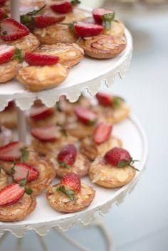 My Wedding - High Tea by Belle's Patisserie and Niqi Mayet High Tea Wedding, Finger Sandwiches, Bruschetta, Almond, Strawberry, Sweets, Baking, Tarts, Ethnic Recipes