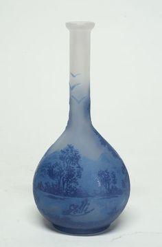 Vintage Emile Galle Art Nouveau Glass Banjo Vase  : More At FOSTERGINGER @ Pinterest