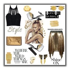 """Shine out!"" by zabead ❤ liked on Polyvore featuring Paco Rabanne, Posh Girl, Giuseppe Zanotti, STELLA McCARTNEY, Erté, Stephanie Kantis, QLOCKTWO, Roberto Coin, glam and girlsnightout"