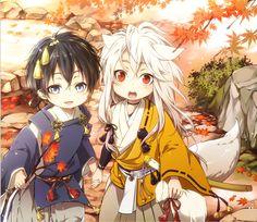 Touken Ranbu: Kogitsunemaru and Mikazuki Munechika chibi Anime Chibi, Kawaii Anime, Art Anime, Kawaii Chibi, Anime Kunst, Cute Chibi, Manga Anime, Anime Boys, Cute Anime Boy