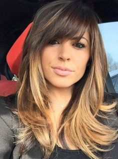 Cute Hairstyles for Medium Length Straight Hair in 2019 – Haircutstyles Website – Balayage Hair Hairstyles With Bangs, Straight Hairstyles, Fancy Hairstyles, Short Haircuts, Layered Hairstyle, Long Hairstyles With Layers, Wedding Hairstyles, Simple Hairstyles, Modern Haircuts