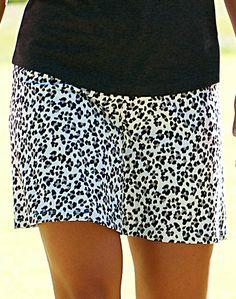 Tequila Sunrise JoFit Ladies & Plus Size Swing Jo-Dry Jersey Cheetah Golf / Tennis Skort at #lorisgolfshoppe