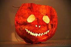 How To... Tissue Paper Halloween Lanterns from Red Ted Art's Blog