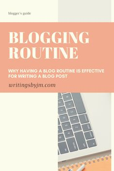 Having a blog routine is more effective in staying inspired to write a blog post! Routine
