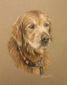 Custom Dog Portrait  Pet portrait in pastel by PatouPetPortraits