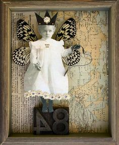 A-Stephanie-Rubiano-collage-that-uses-real-butterfly-wings-an-antique-photograph-and-an-old-map.jpg (419×508)