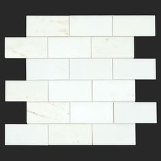 Calacatta Golden Marble 2x4 Polished Brick Mosaic