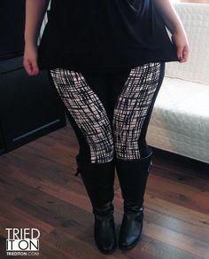 Cool Asos plus size legging review at TriedItOn.com