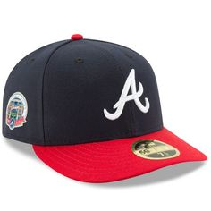 b495980cbc3 Men s Atlanta Braves New Era Navy Red SunTrust Park Inaugural Season Patch  Authentic Collection On-Field Low Profile 59FIFTY Fitted Hat