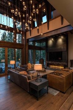 Rustic Modern Home Design Lake Tahoe Getaway Features A Modern Sch . Rustic Modern Home Design Lake Tahoe Getaway Features A Modern Sch . - Diy Projekt, to choose LED lights for at home? Home Interior Design, Interior Architecture, Room Interior, Interior Ideas, Dream House Interior, Design Homes, Beautiful Houses Interior, Amazing Architecture, Luxury Interior
