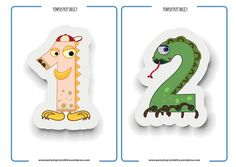 flashcards numbers 1-10 monsters-02