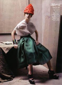 Peerless I US Vogue I January 2008 I Model: Natalia Vodianova, Photographer: Steven Meisel, Fashion Editor: Grace Coddington.