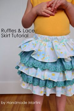 Tutorial: Ruffles and Lace Skirt