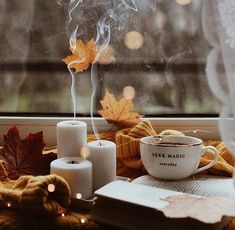 Image about book in Autumn Vibes by blondechanel Autumn Cozy, Fall Winter, Autumn Tea, Autumn Coffee, Autumn Morning, Morning Morning, Home Bild, Fall Wallpaper, Autumn Photography