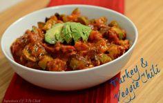 Turkey & Veggie Chili via www.ingredientsofafitchick.com