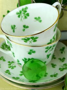 Shamrock teacup