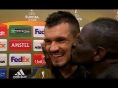 Mamadou Sakho kissed Dejan Lovren after Liverpool progress past Man United (Video)