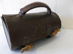 Mens Vintage Leather Travel Case Rare Unique by Retromagination