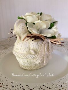floral shabby chic decor floral cottage by BsCozyCottageCrafts