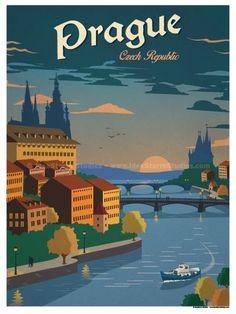 Image of Vintage Prague Poster