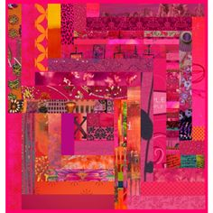 collage #quilt #collage #pink